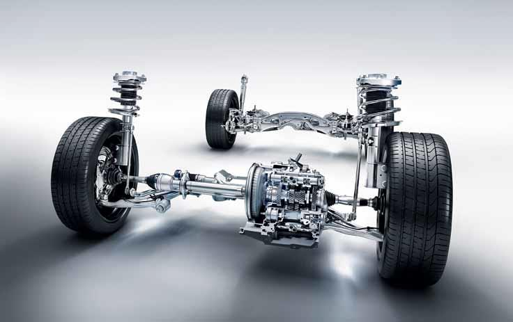 Coil springs are part of the suspension system of a car.