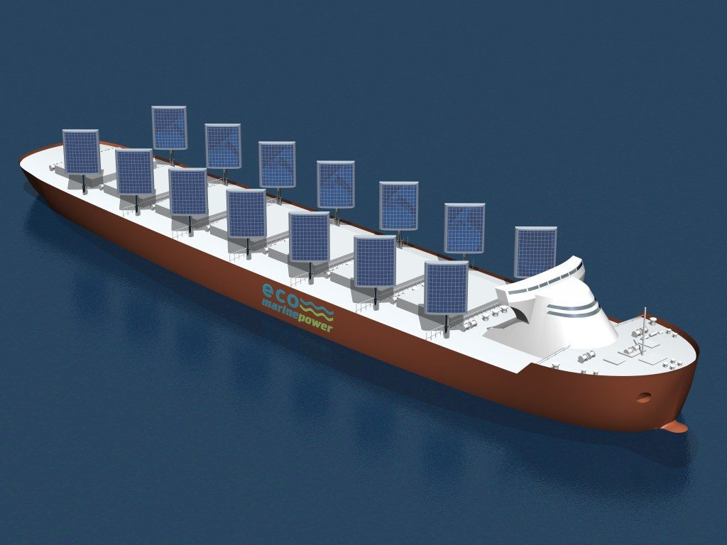 A graphic representation of Eco Marine Power's new vessel.
