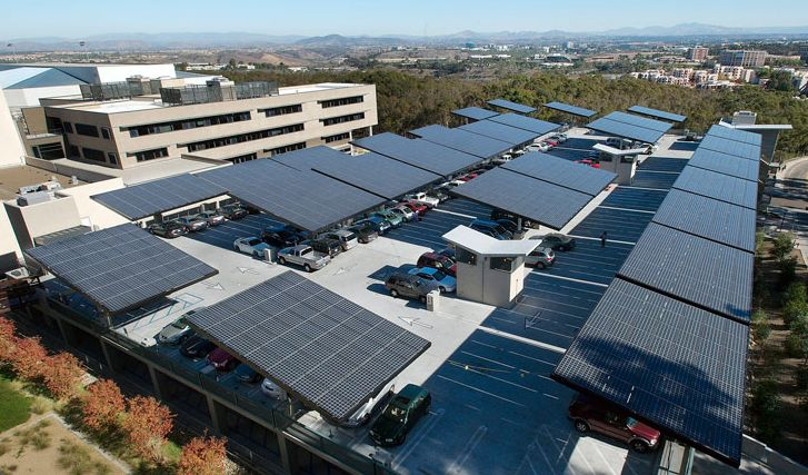 Besides utility managed solar farms, solar developers are targeting other open spaces, such as auto parking lots, for large-scale energy savings