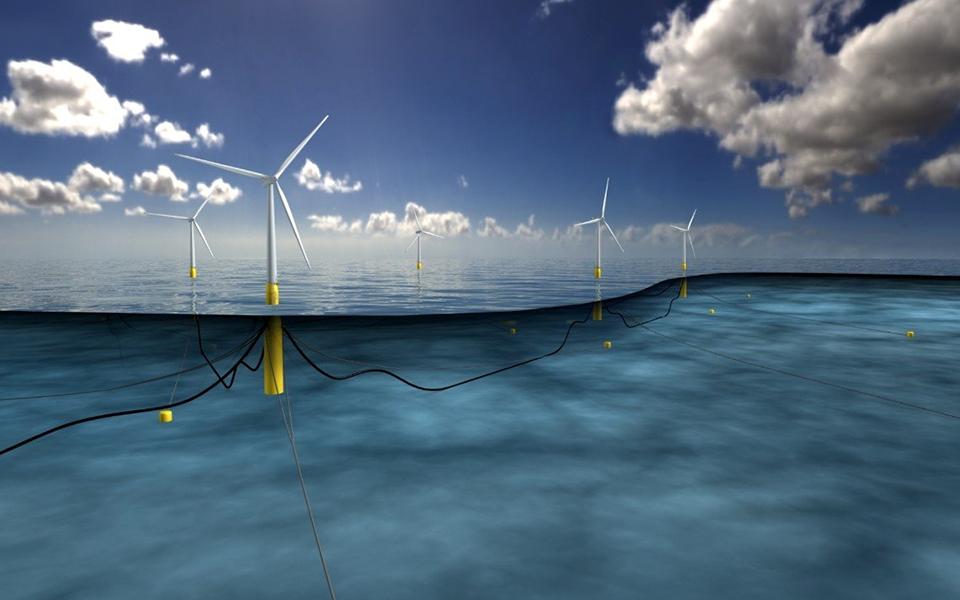 부유식 해상풍력 hywind 프로젝트 조감도