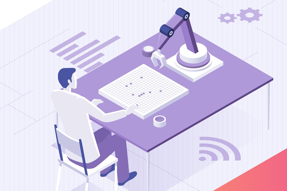 인공지능과 바둑을 두는 사람