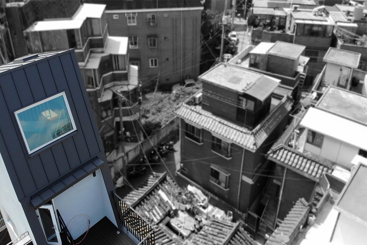 외지붕이 매력적인 협소주택