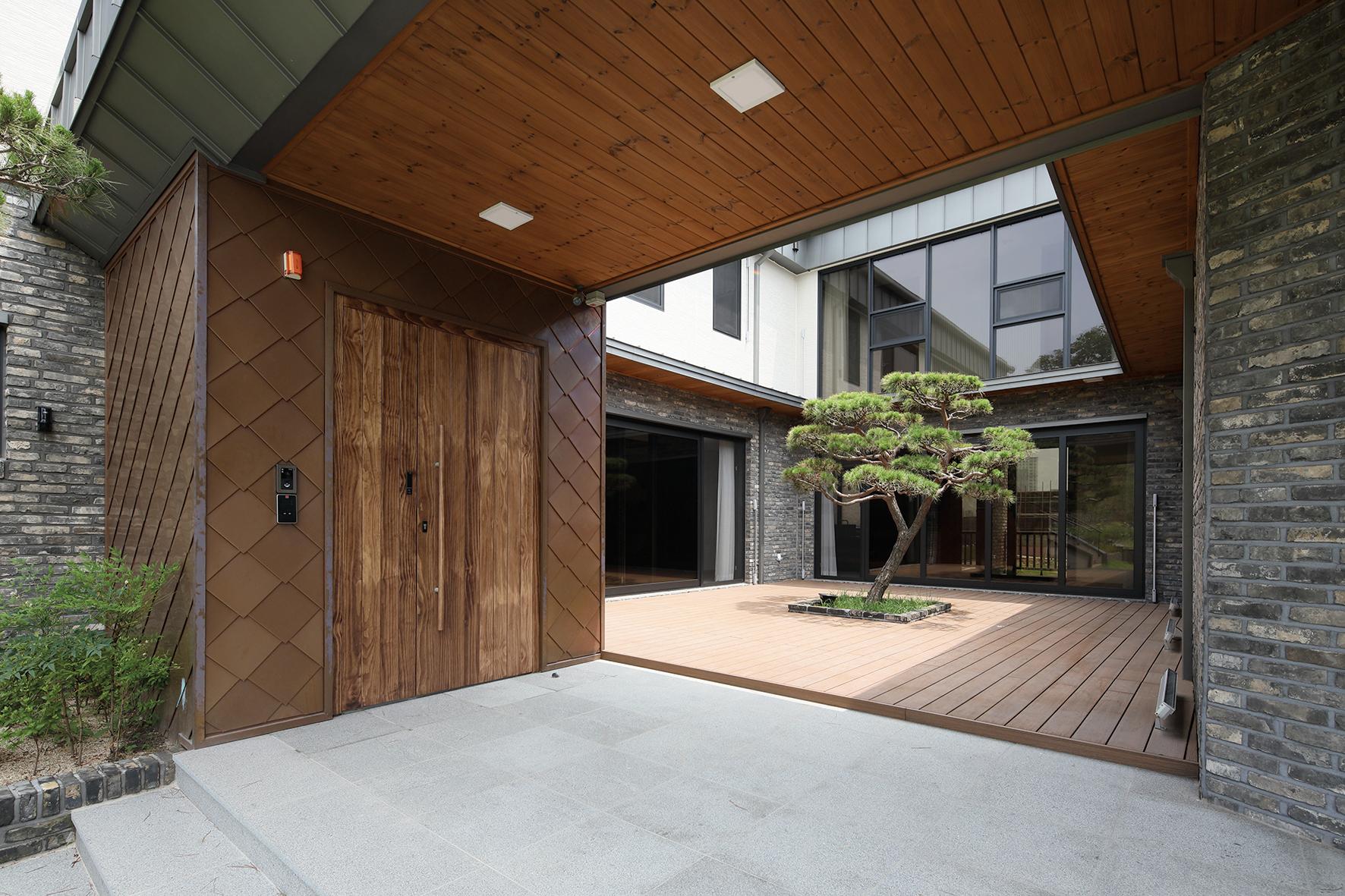 세종시에 지어진 단독주택 '삼마당집' 외부 모습